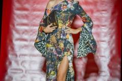 Sara Leupold bei der secret Fashion Show Kleid Alea