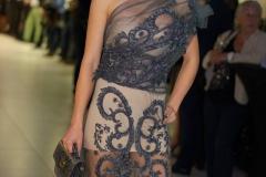 Sara Leupold Couture H/W 2018 Cocktailkleid aus edler Tüllstickerei