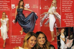 Sängerin und Schauspielerin Cornelia Corba trägt Couture von Sara Leupold