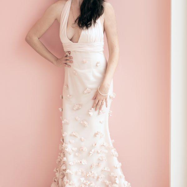 Couture S/S 2019 roséfarbenes Abendkleid/Brautkleid