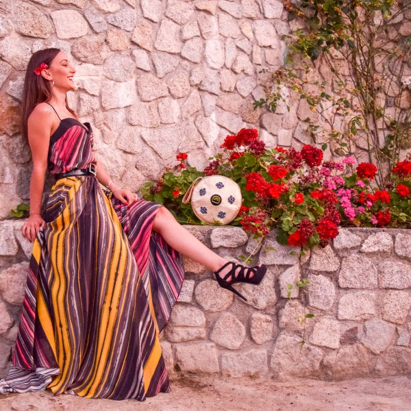 Sara Leupold Couture Top und Rock Stripes